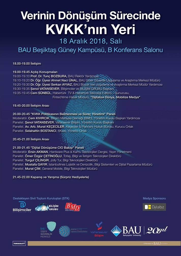 Verinin Dönüşüm Sürecinde Kişisel Verilerin Korunması Kanunu Konferansı (18 Aralık 2018)